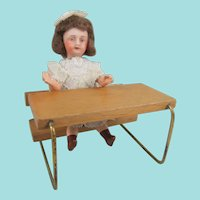 Adorable Mignonette, 3 ½ Inches, With Schoolroom Desk