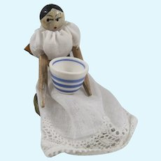 Miniature Jointed Peg Doll Little Miss Muffet, 2 ¼ Inches