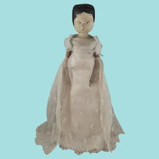 Lovely 12 Inch Grodnertal Doll In Fabulous Costume