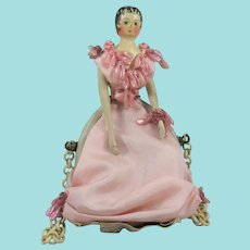 Extraordinary Grodnertal Doll Purse by Parisian Couturier Margaine-Lacroix