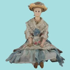 Gorgeous Wax Head Doll, 19 Inches, In Original Costume