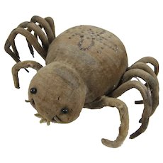 Fabulous Pin-Stuck Velvet Spider Pin Cushion, 5 Inches Wide