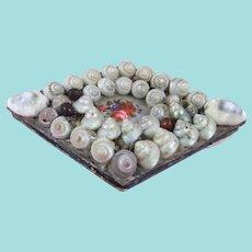 Mid-19th Century Diamond Shaped Shell Work Pin Cushion