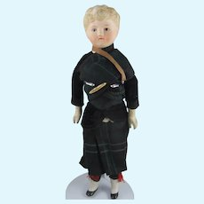 Parian Boy Doll, 11 Inches, In Traditional Scottish Costume