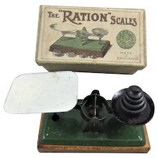 Antique 'The Ration' Scales for Playing Shop, Boxed & Complete