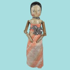Sweet Grodnertal Doll, 10 Inches