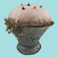 Vase-Shaped Regency Silk Pin Cushion