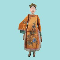 Male Chinese Opera Doll, 11 Inches, In Fabulous Embroidered Costume