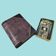 Desk Accessories for Fashion Doll – Leather Folder & 1918 Calendar Book