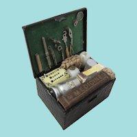 Vintage Miniature Artisan-Made Medicine Chest