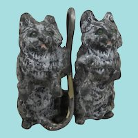 Delightful Antique Miniature Cold Painted Tabby Cats
