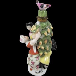 Gorgeous Sitzendorf Porcelain Scent Bottle & Stopper
