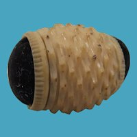 19th Century Double-Ended Vegetable Ivory Pin Cushion