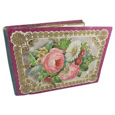 Pretty Victorian 'Compliments of the Season' Pocket Book/Card Case