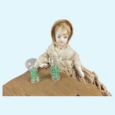 Pair Vintage Miniature Dollhouse Venetian Glass Goblets