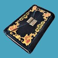 Gilt & Embossed Velvet Sewing Case Including Tools & Needles