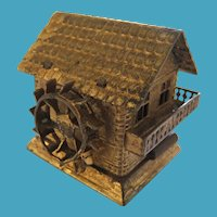 Novelty Gilt Brass Water Mill Tape Measure