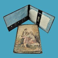 19th Century Needle Case With 2 Baxter-Style Colour Prints