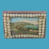 'A Present From Swansea' Shell Decorated Pin Cushion Box
