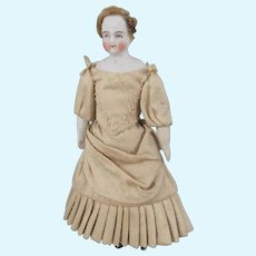 Miniature Bisque Head Dolls House Doll, 5 Inches