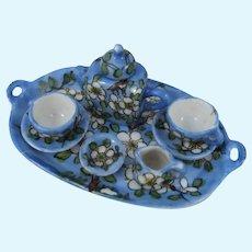 Miniature Desvres Gabriel Fourmaintraux Hand-painted Tea/Coffee Set