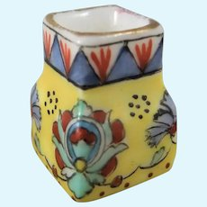 Beautiful Miniature Hand Painted Desvres Gabriel Fourmaintraux Vase