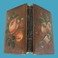 Pretty Floral Painted Spa Work Needle Book