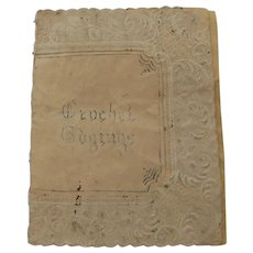 19th Century Crochet Sample Book Containing 12 Samples