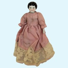Small German China Head Doll, 6 ½ Inches