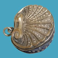 Silver-Plated Scallop Shell Pin Cushion