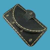 Miniature 19th Century Gold Tooled Leather Purse