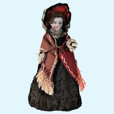 Lovely Bisque Doll House Lady Doll, 6 ¾ Inches