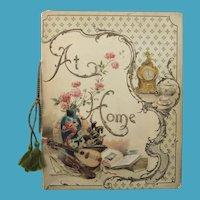 Wonderful Victorian 'At Home' Book, Unused