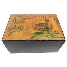 Pretty Victorian Mauchline Ware Box