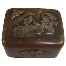 Small Japanese Mixed Metal Pill/Trinket Box