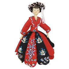 Fabulous 19th Century Grodnertal Pin Cushion Doll