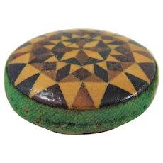 Victorian Tunbridge Ware Pin Wheel Pin Cushion