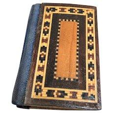 Tiny Victorian Tunbridge Ware Needle Case/Book/Holder