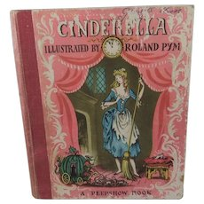 Delightful Cinderella 'Peepshow' Carousel-Type Book in Six Scenes with Roland Pym Illustrations