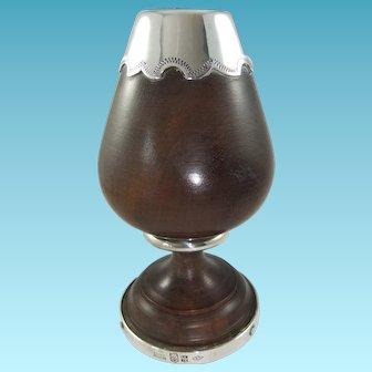 Sterling Silver-Mounted Lignum Vitae Cup/Goblet by Juan Carlos Pallarols