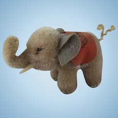Sweet Vintage Miniature Steiff Elephant, 3 Inches High