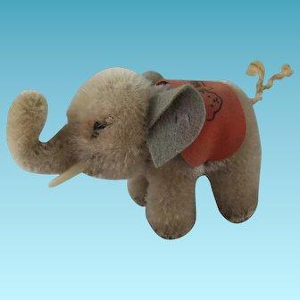 Sweet Vintage Miniature Steiff Elephant, 3 Inches High