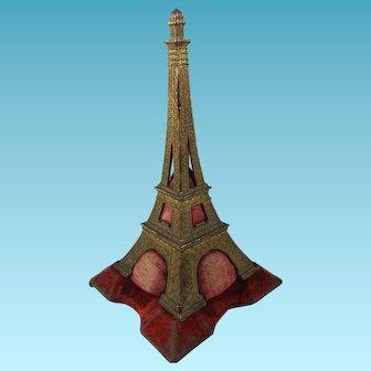 Antique Eiffel Tower Pin Cushion, 6 Inches, Circa 1890