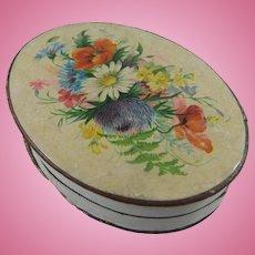 Delightful Small Oval Cadburys Chocolates Box, 19th Century, 3 ¾ Inches