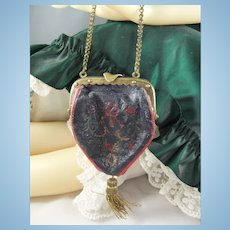 Exquisite Tiny 19th Century Soft Leather Doll Purse