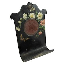 19th Century Ladies' Papier Mache Easel-Frame Pocket Watch Stand