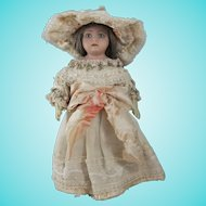 Sweet Circa 1910 English Bisque Head Doll, 10 Inches