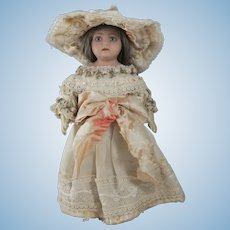 Sweet Circa 1910 English Bisque Head Doll, 10 Inches