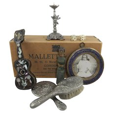 Antique & Vintage Doll Accessories in Old Jeweller's Box
