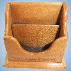 19th Century Miniature Mauchline Ware Letter Rack